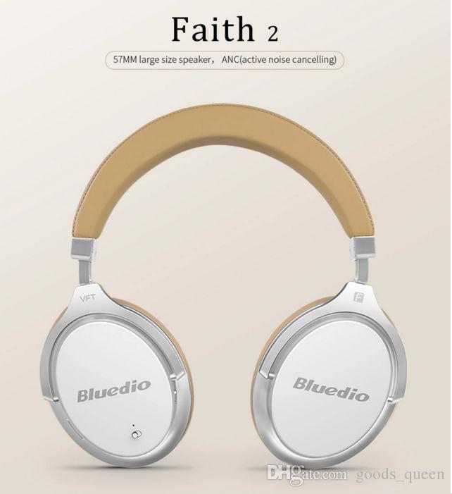 Bluedio F2 Active Noise Cancelling Wireless Bluetooth Headphones Rotatable Over Ear Headphone With Soft Ear Pad For Mobile Phone car
