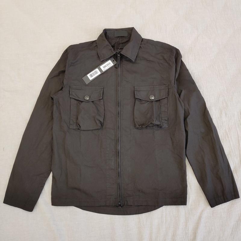 Venta caliente 19SS 103F2 FANTASMA PIEZA Sobrecamisa el algodón de nylon TELA TOPST0NEY manera de la camisa mujeres de los hombres chaqueta de la capa HFLSCS045