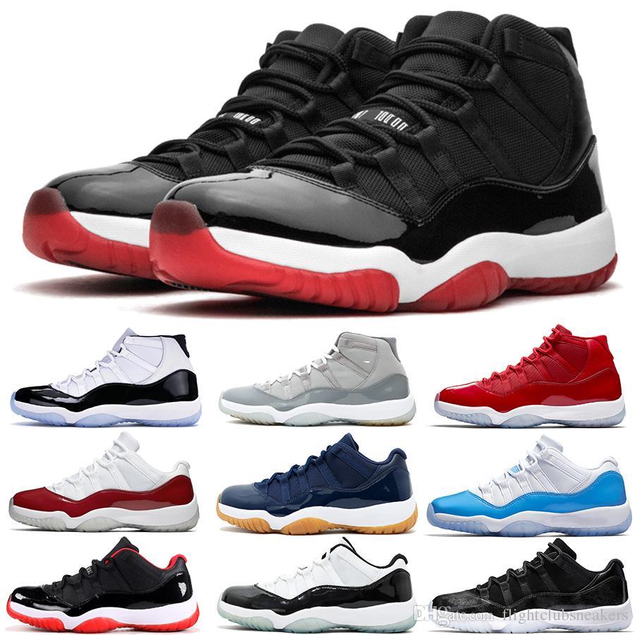 2019 venda quente novo Concord 11s Mens tênis de basquete Playoffs da meia-noite da marinha boné e um vestido Gamma azul Sneakers 11s estilista Shoes Eur36-47