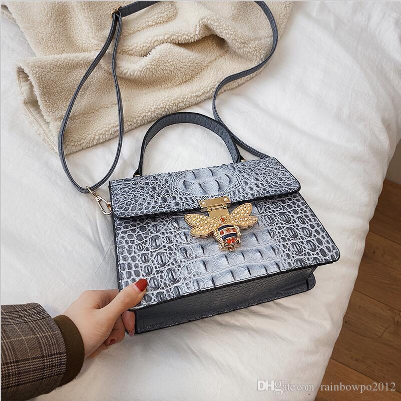 women handbag new high quality patterned leather handbag elegant atmosphere crocodile women shoulder bag color diamond buckle fashion bag