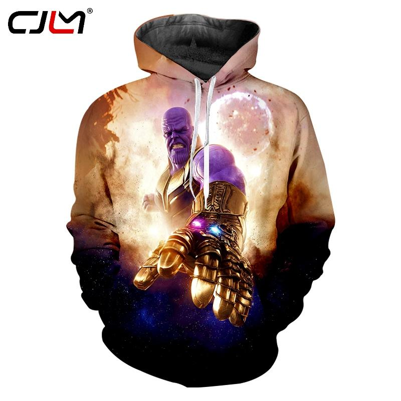2019 new fashion men's hoodie Thanos 3D printing men's hip hop oversized 6XL hoodie CJLM