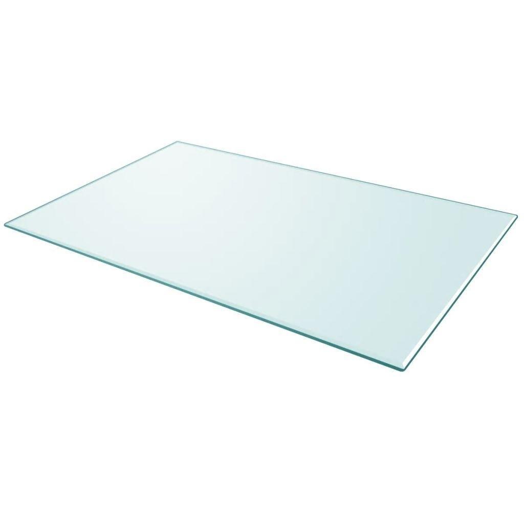 Table Top Ausgeglichenes Glas rechteckig 39,4 Esszimmermöbel
