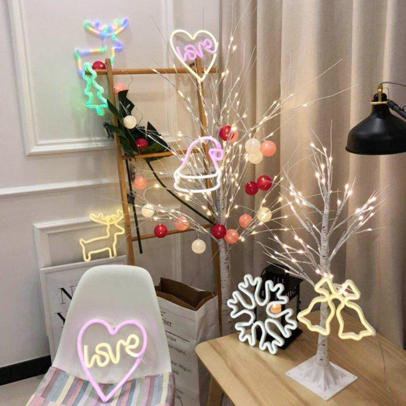 Lumières Décoration de Noël Chambre Neon signes Salon Neon Night Lights Lampe de table chaude