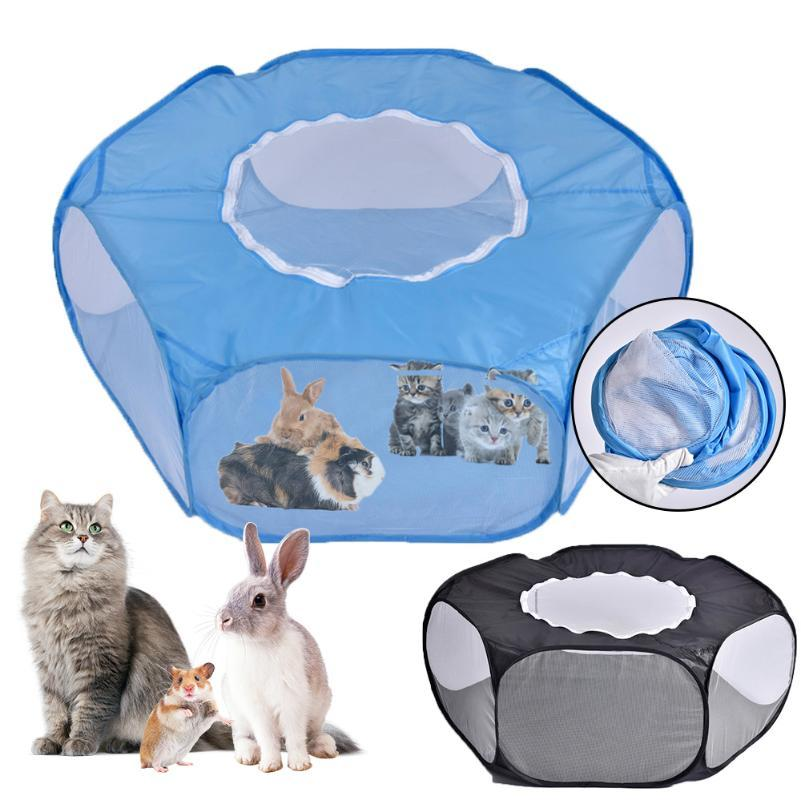 Portable Folding Pet tent Dog House Cage Dog Cat Tent Playpen Puppy Kennel Easy Operation Octagon Fence#1