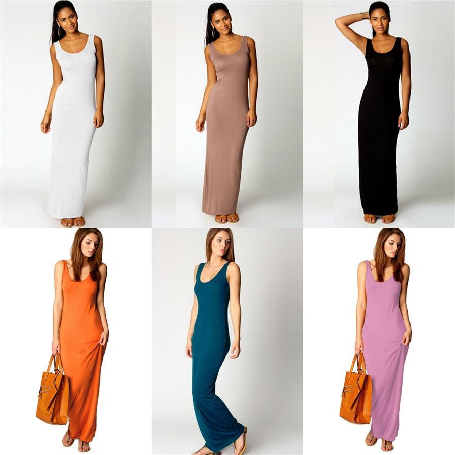 50Pcs Frauen beiläufige Kleider Sexy Frauen-Sommer-lange Kleid-lange T-Shirts Kleid M413 # 993