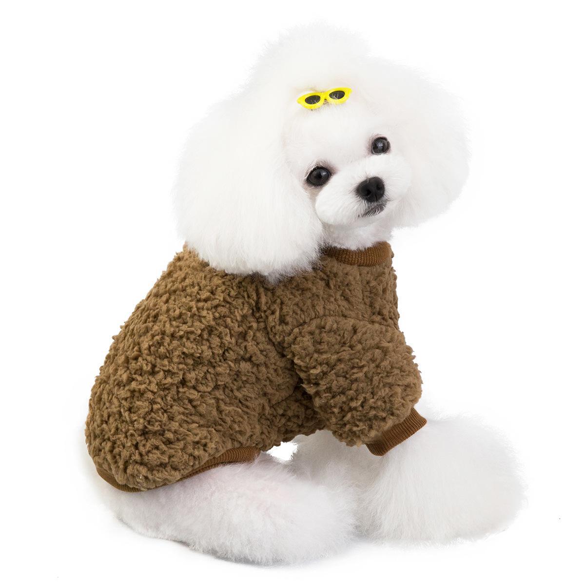 Мультфильм собака толстовка зимняя собака одежда для собак пальто куртка хлопок ропа перро французский бульдог одежда для собак домашних животных одежда