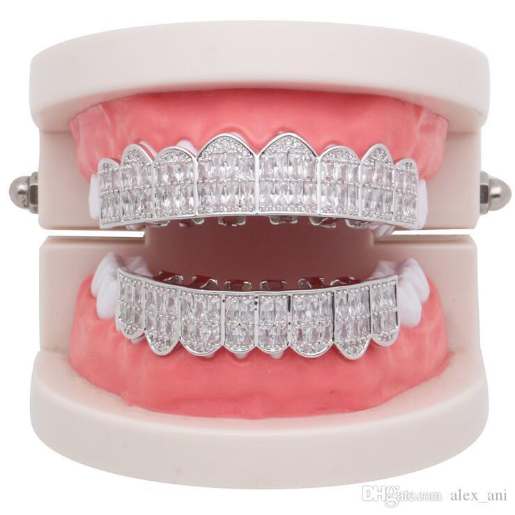 Vente chaude hip hop diamants dents grill