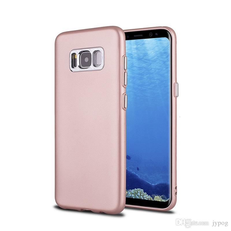 Samsung S8 Artı Kılıf için Lüks Elektro düğmeleri Samsung S8 için Ultra-İnce Yumuşak TPU Telefon kılıfı