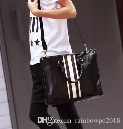 wholesa brand package han men leather handbag British business men hand restoring ancient ways bill of lading shoulder bag leisure briefcase