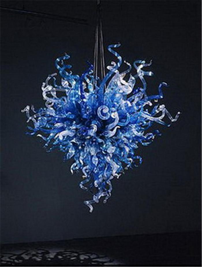 Símbolo do Coração Blown Borosilicate Modern Art Indoor Decoração LED Fonte de Luz Murano Europeia Cristal Chandelier