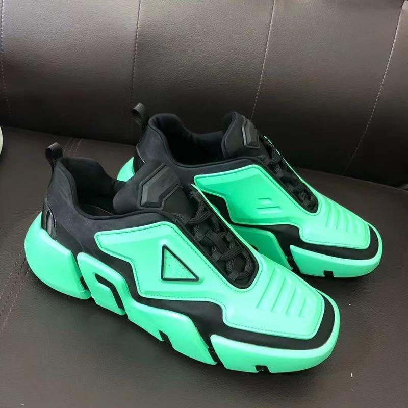 2020 Top Quality Homens Mulheres Platform Lazer pai moda sapatos sapatos femininos Spikes couro botas casuais Hausschuhe Sandale Shoes F35