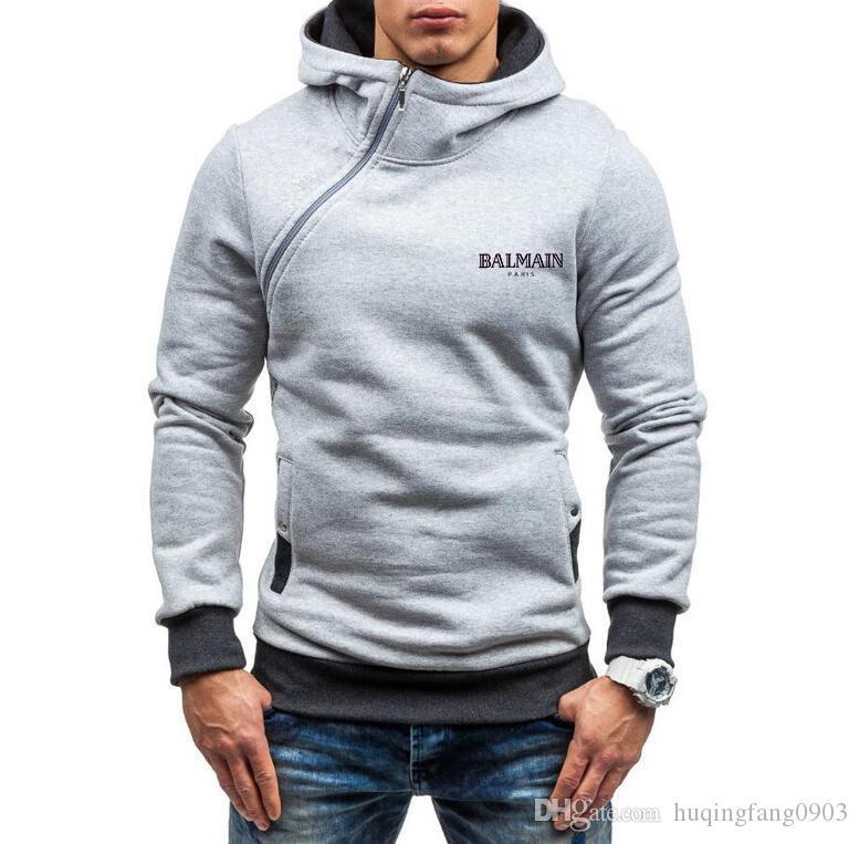 New Hot women men hooded fleece fashion Sweatshirts sweaters Hoodies pullover unisex hooded Side zipper coat ZGD20222