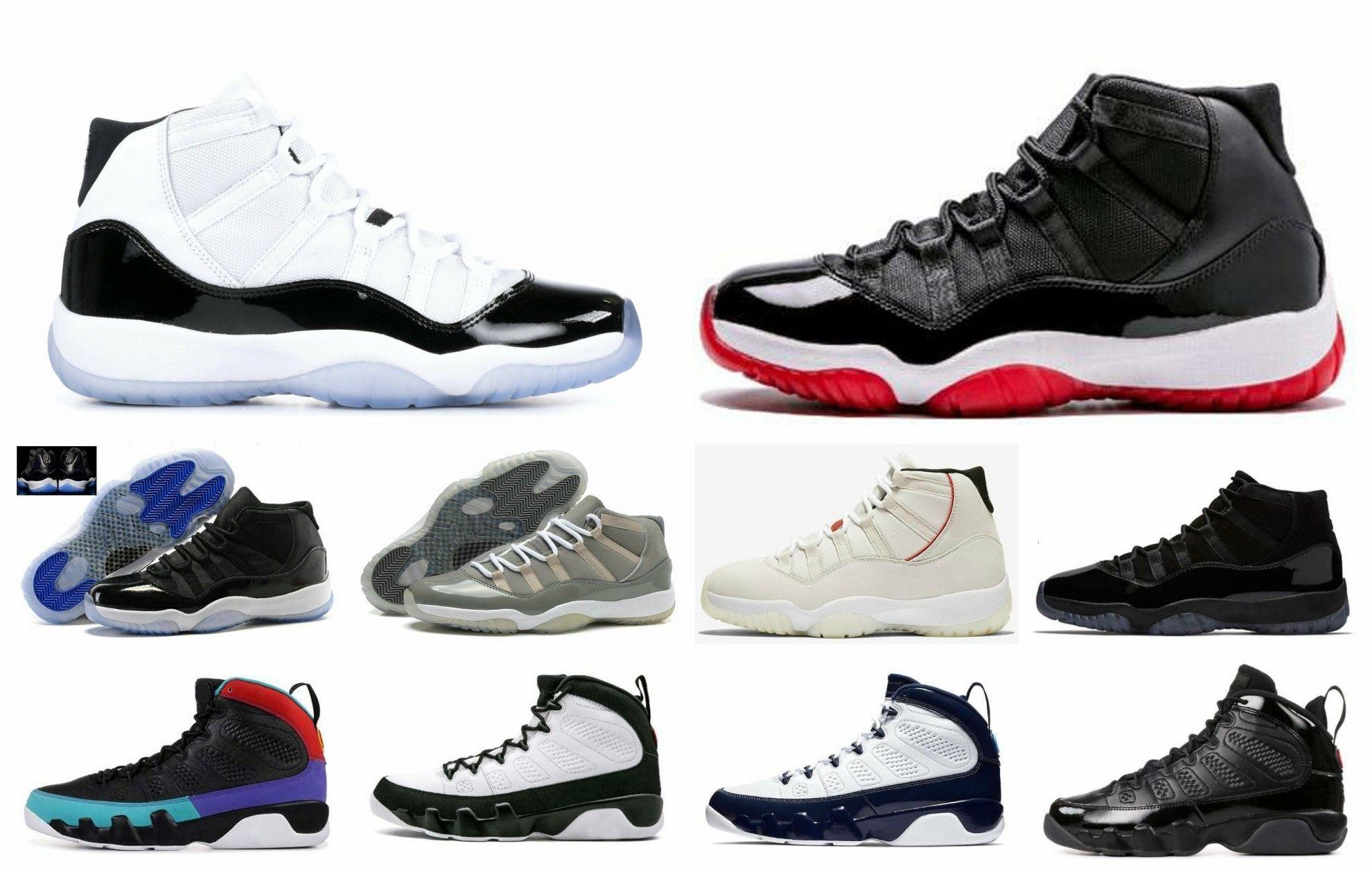2019 45 11 9 Box Bred Basketball Concord Com S boné e um vestido Sneakers Sonho Do It Unc Espaço Jams Outdoor Shoes