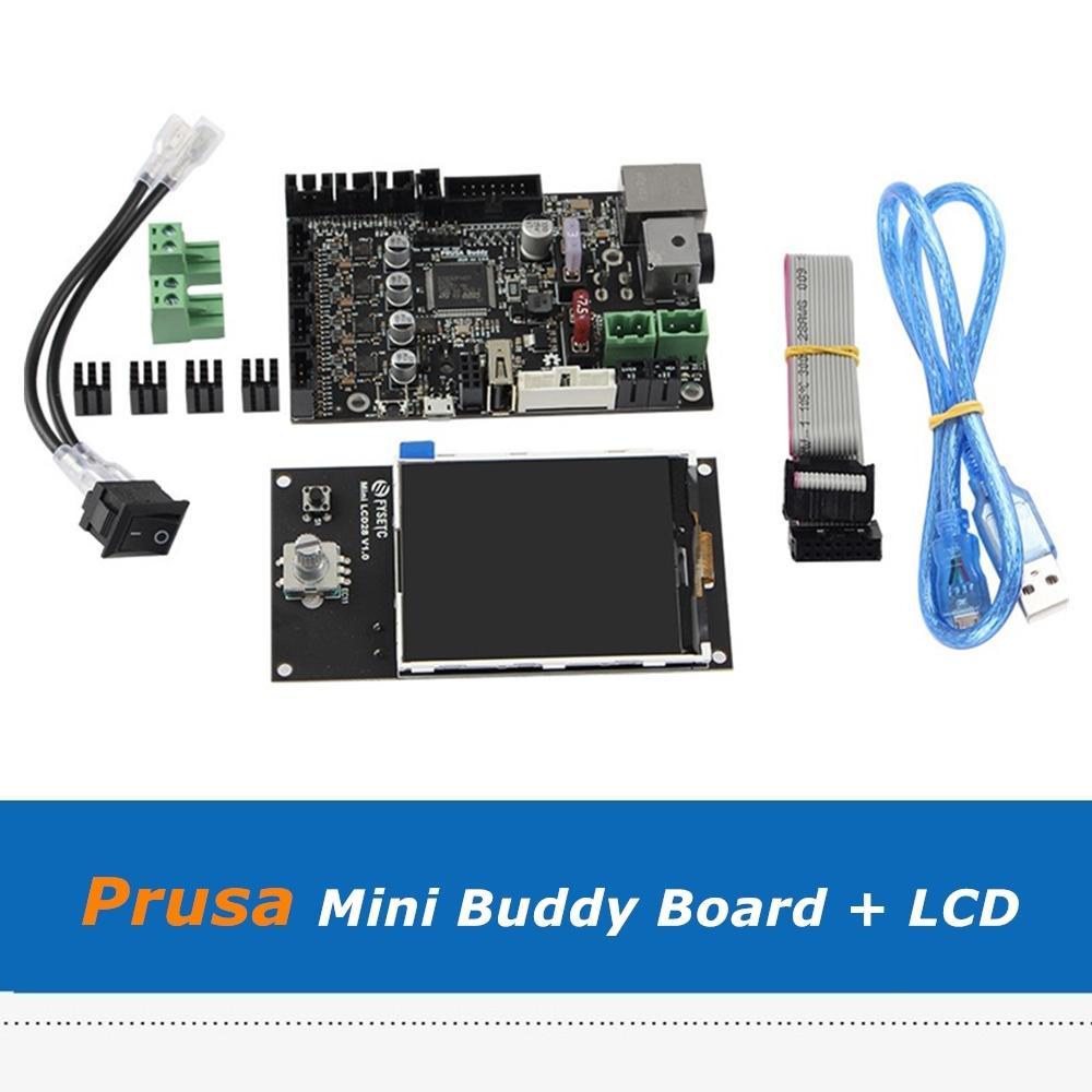 Clone Prusa Mini Buddy Control Board Integrated TMC2209 Driver + Mini LCD28 / LCD32 Pantalla para Partes Partes Planes Bandas