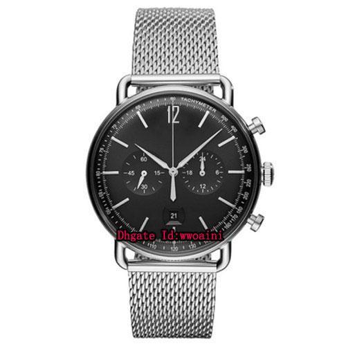 New AR11143 AR11104 chronographe Montre Homme marque de mode montre à quartz en cuir pour hommes montres en acier de maille de ceinture montre de sport étanche Tous les travaux