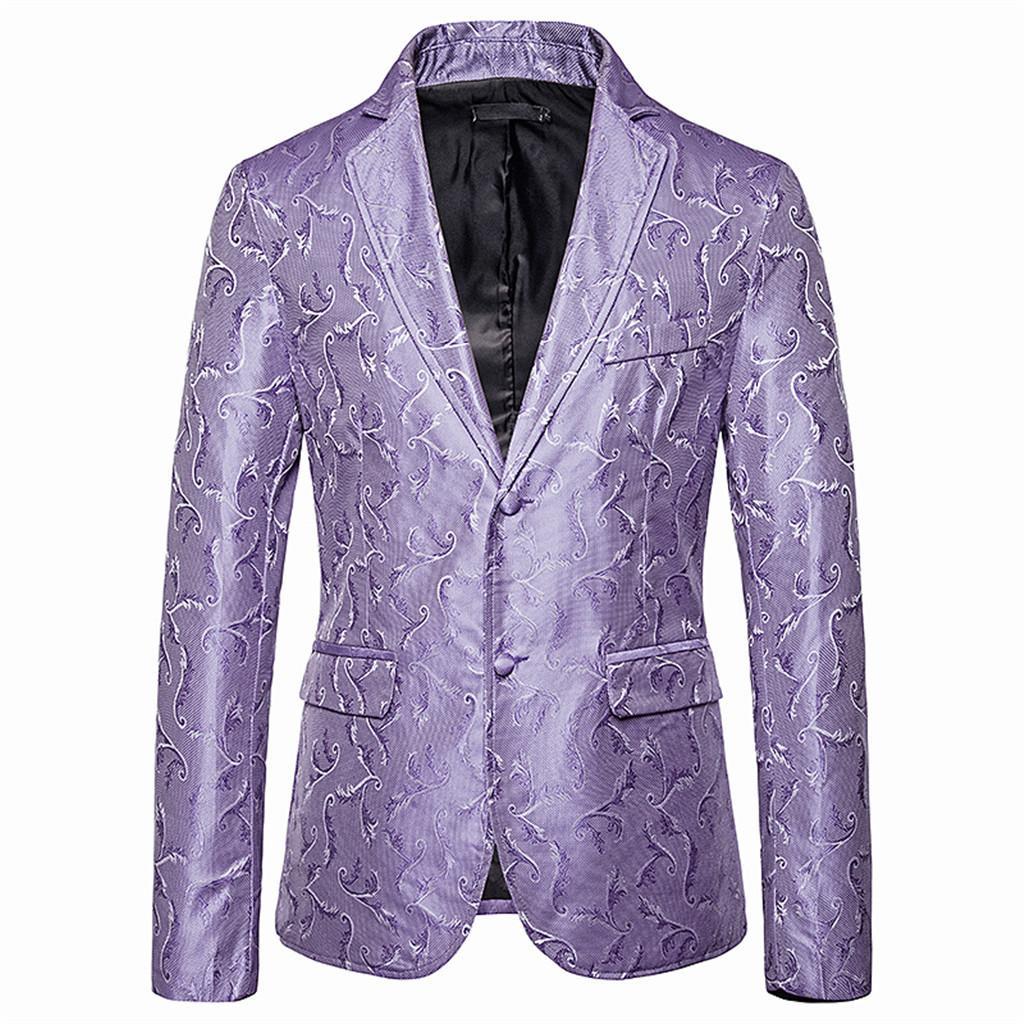 Mens Blazer Jacket Smoking Party Prom Wedding Blazer Men Baroque Hombre Estampado Mens Fancy Slim Fit Masculino