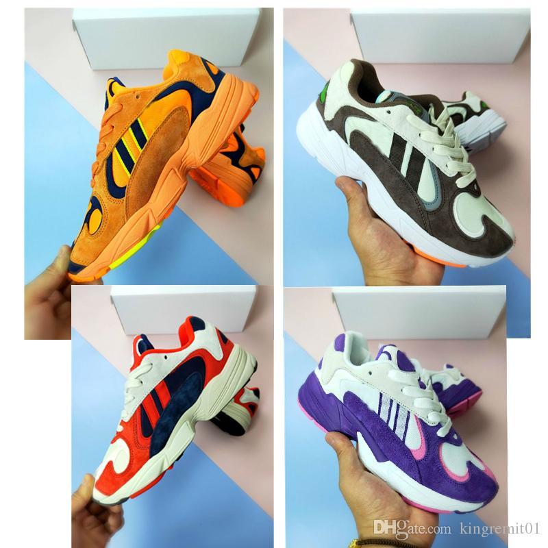 2019 nouvelles chaussures hommes femmes chaussures de course Dragon Ball Z x YUNG-1 OG GoKu orange Kanye 700 West chaussures de course de sport baskets