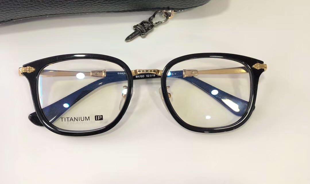 BUAME-Y Altın Siyah Gözlük Gözlük Gözlük Titanyum Çerçeve Şeffaf Lens 52mm da tek lüks tasarımcı Gözlük Yeni wth Box güneş gözlüğü Occhiali