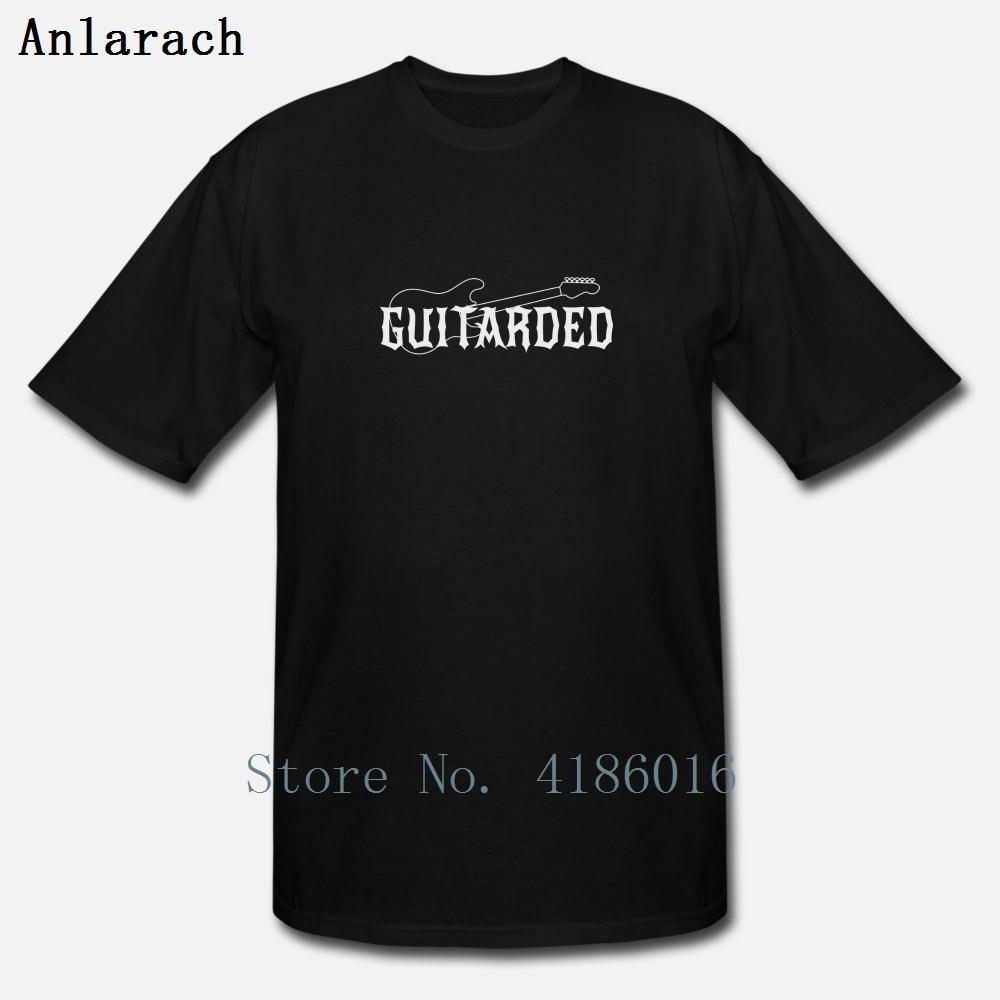 Gitarre Guitarded T-Shirt Baumwolle Kawaii Sonnenlicht Rundhalsausschnitt-Sommer-Art-Gebäude Customized cooles Hemd
