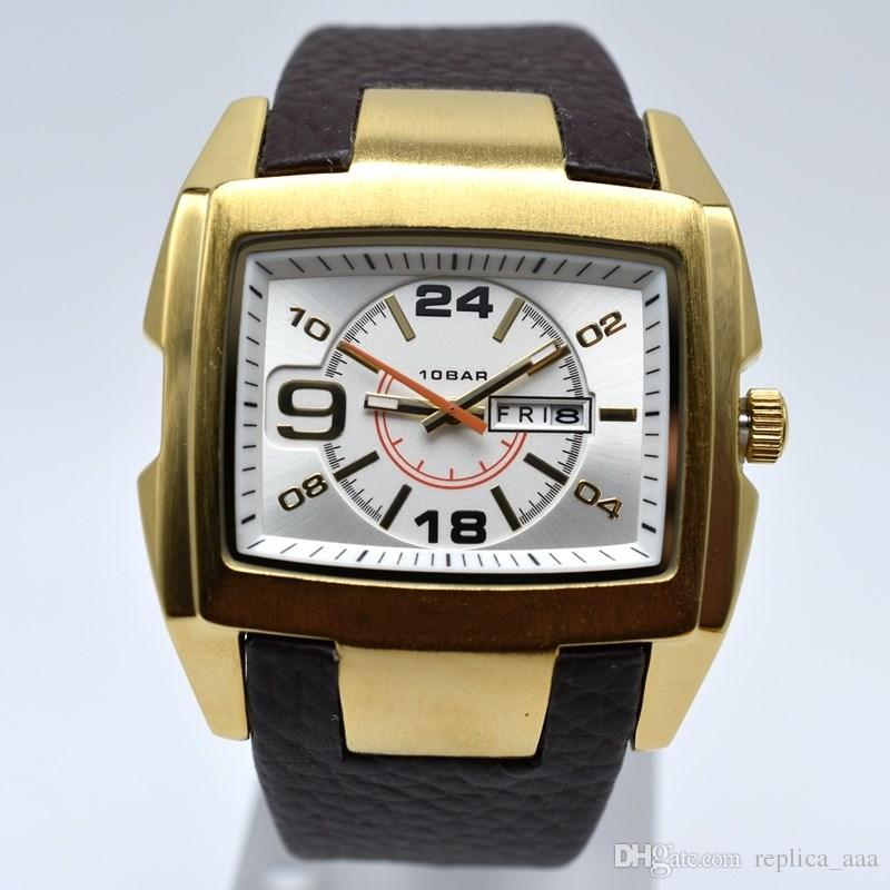 Nuovo stile 50 MM grande quadrante in pelle di quarzo mens orologi da uomo d'affari di data di giorno uomini vestito designer orologio all'ingrosso regali da uomo orologio da polso