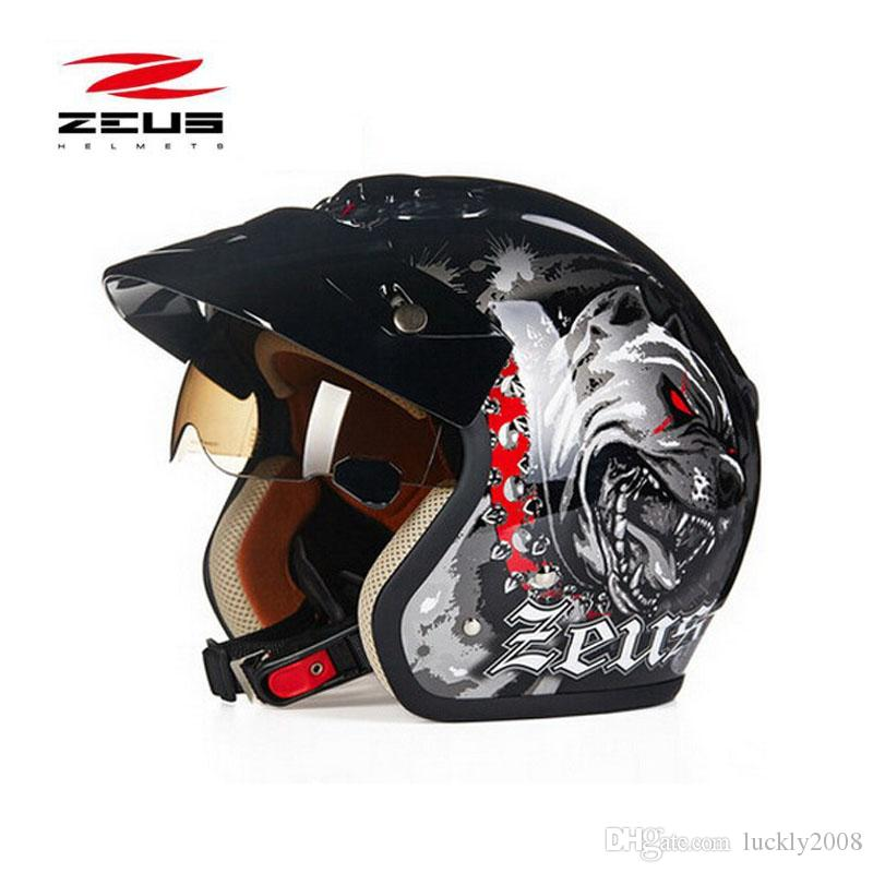 black dog ZEUS 3/4 Half Face motorcycle helmet motorcoss 318C motorbike electric bicycle scooter Safety helmets M L XL XXL