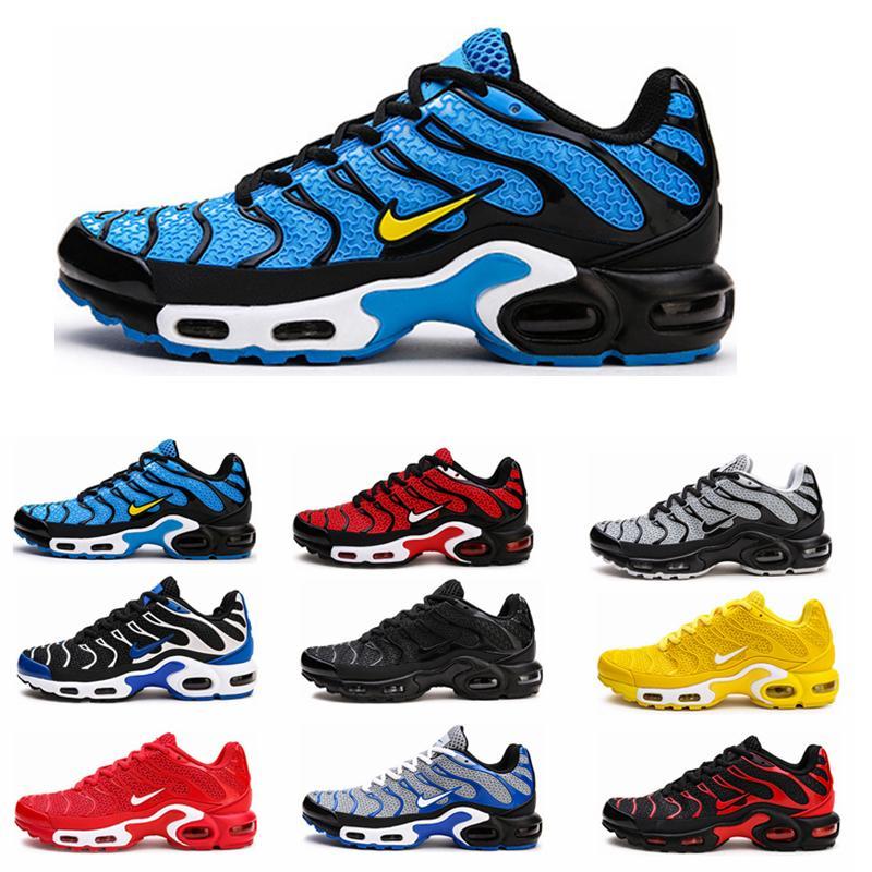 nike air max 2019TN Plus Scarpe da corsa Classic Outdoor Run Shoes tn Nero Bianco Sport Shock Sneakers Uomo richiesto Olive Silver In Metallic 5-12
