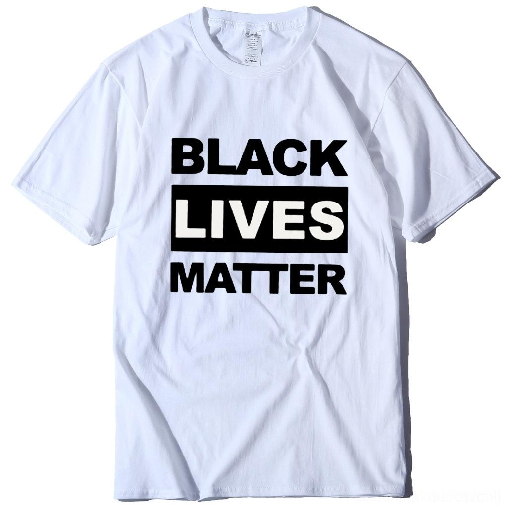 qavKP Unisex BLACK LIVES MATTER T shirt S-3XL Letters Print Summer Designer Tshirts Trend Short SLeeve Tee Luxury Sport Top 20 color SALE D6