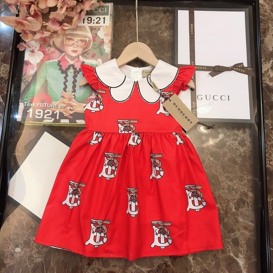 Yüksek kaliteli kolsuz elbise 030.911 baskı Güzel Çocuk Konfeksiyon Kız prenses elbise Kore Stereoskopik