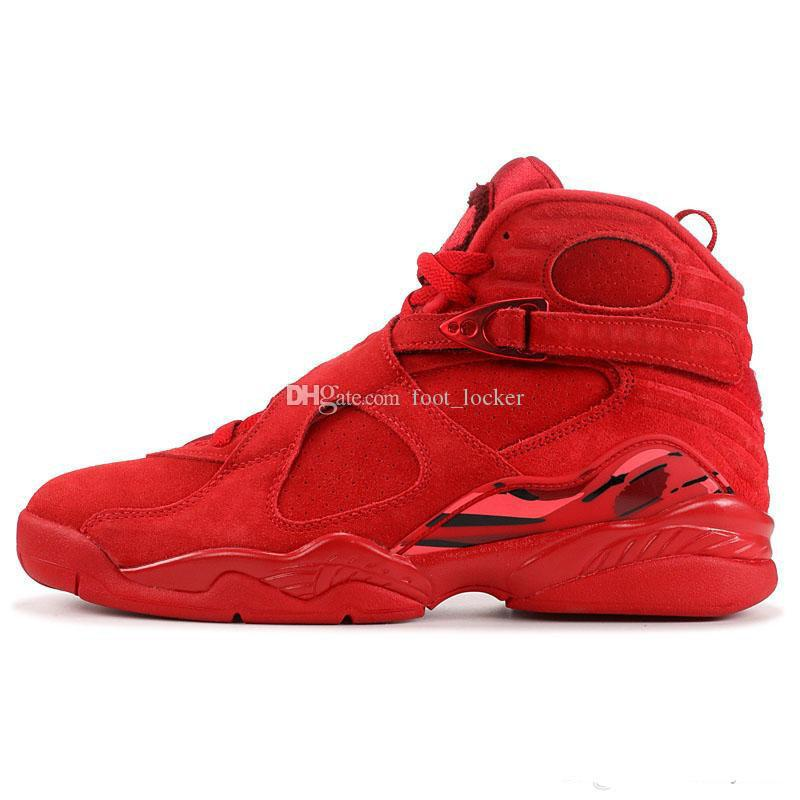 New 8 VIII red black blue grey 8s low men Retro basketball shoes sports sneakers outdoor trainers high quality