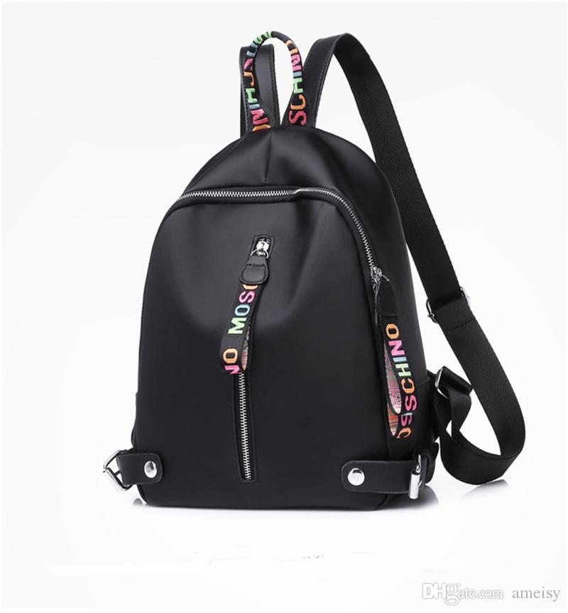 Newest Fashion designer backpack Women Backpacks For Teenage Girls With Double Zipper Oxford Fabric Colleage Bags Ladies Travel Backpack