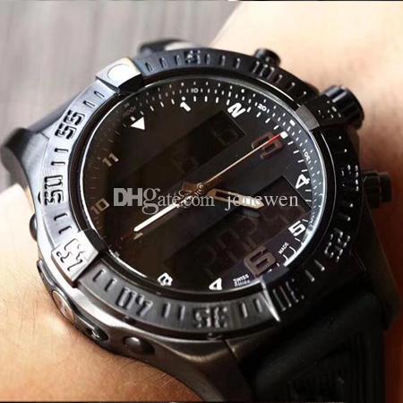 새로운 패션 디자인 시계 남자 럭셔리 어벤저 시리즈 다기능 크로노 그래프 손목 시계 전자 디스플레이 스포츠 시계 공장 가격