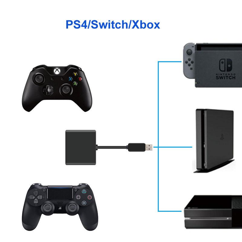 수신기 어댑터 변환기 장치 키보드 마우스 마우스 변환 수신기 XboxOne / PS4 / 스위치 호스트 플러그 앤 플레이