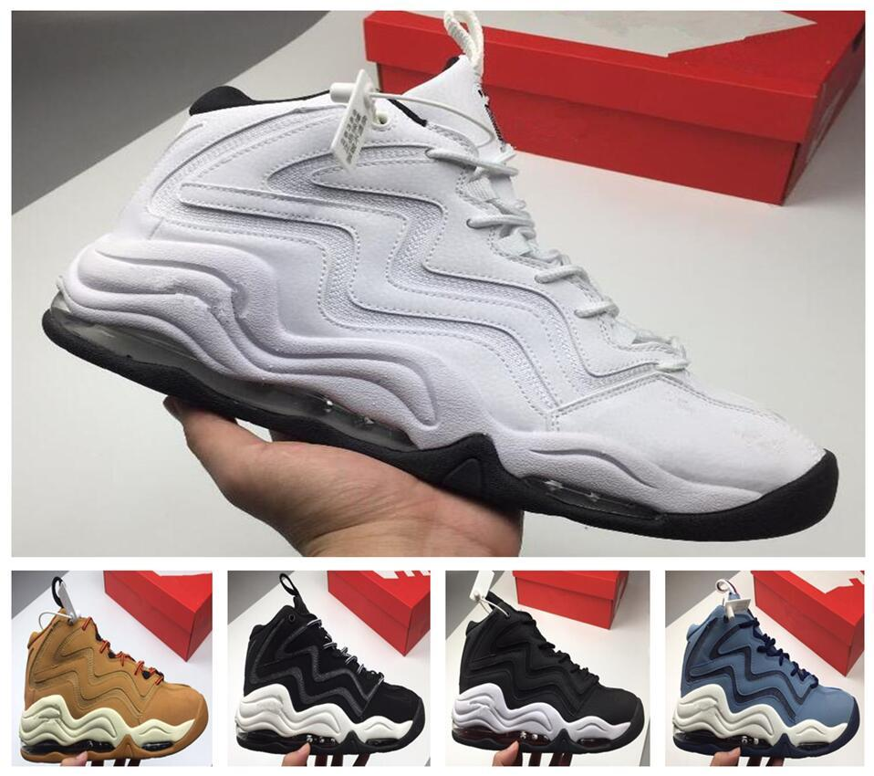 2018 High Quality Air More Uptempo SUPTEMPO Basketball Shoes OLYMPIC RELEASE Bulls Gold Varsity Maroon Black Mens Scottie Pippen Shoe