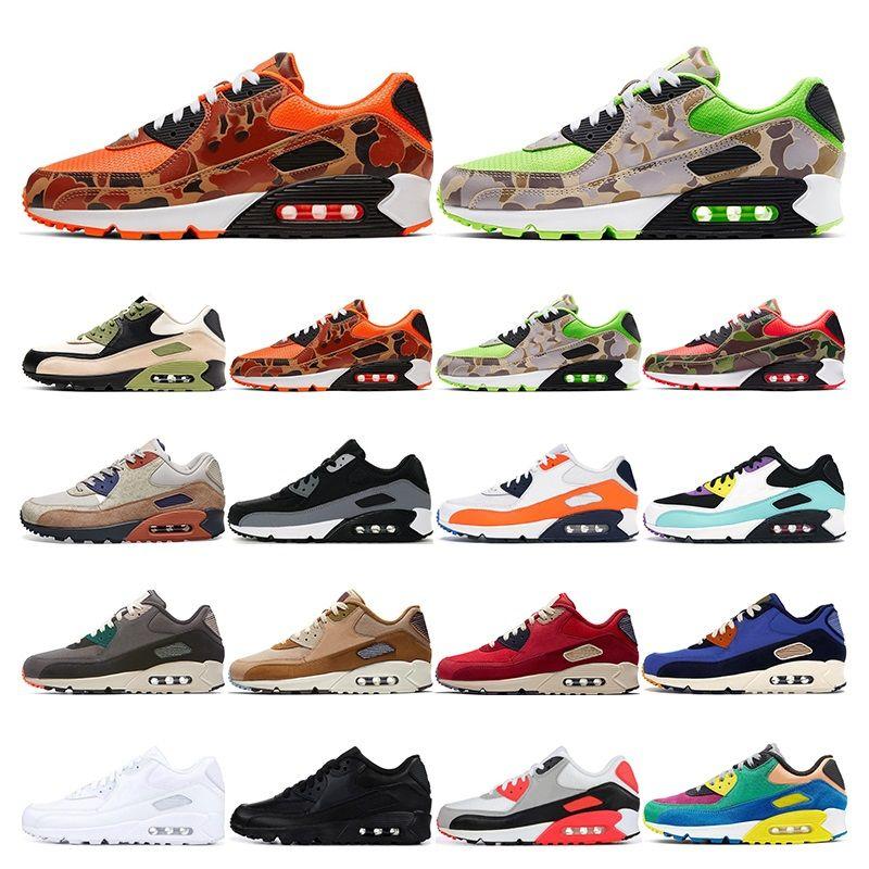 nike air max 90   zapatos para correr Camo verde naranja Lahar Escape juego Real Media oliva viotech aire libre para mujer entrenadores deportivos de moda