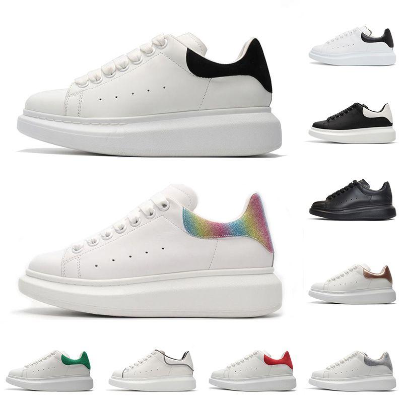 Designer de luxo sapatos casuais homens mulheres moda plataforma tênis triplo preto branco 3M camurça de couro reflexivo confortável tamanho plano 36-44