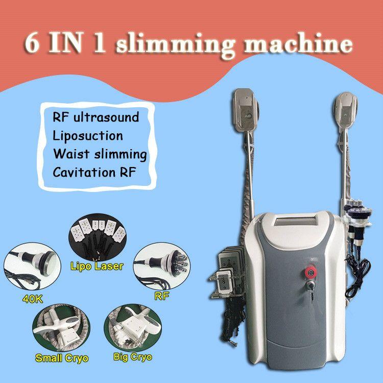2 cryo tutamaklar kavitasyon rf lipo lazer salonu kullanımı ile 2020 Profesyonel cryolipolysis yağ donma vücut zayıflama makinesi