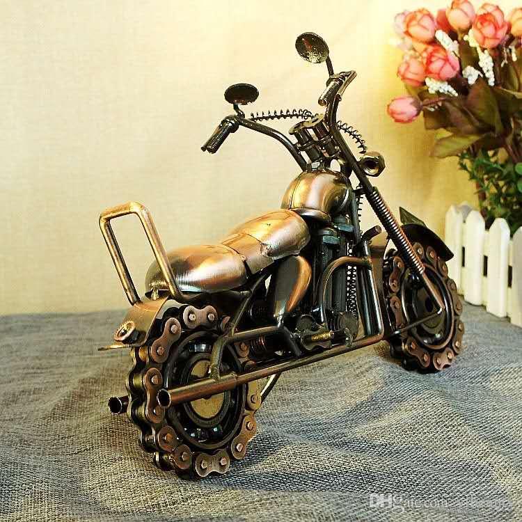 Nuevo, Europa modelo de cadena dominante de gran tamaño motocicleta manualidades regalo decorativo M94 dos colores disponibles galvanoplastia hierro
