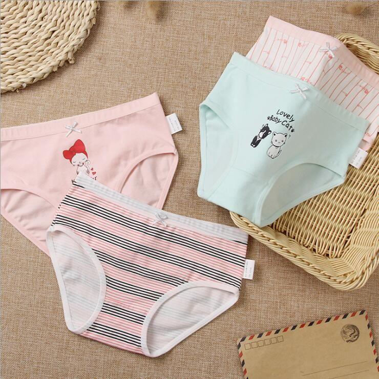UK Baby Kids Girls Soft Underwear Cotton Panties Short Briefs Underpants Cute