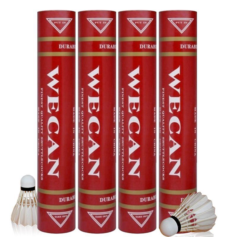 Бесплатная доставка Оригинального WECAN бадминтона Волан RED перо Волан Лучший сорт уток перо для конкуренции