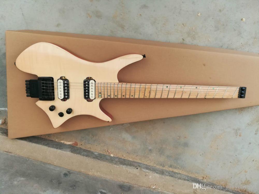 Su misura all'ingrosso della fabbrica chitarra elettrica colore migliore tipo di ventilatore prezzo, senza testa vernici per legno Acero Tastiera pianoforte, fornire personalizzazione