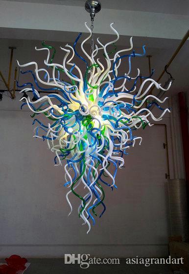 100 % 입 블로운 펜던트 램프 CE UL 붕규산 무라노 유리 Dale Chihuly Art 예쁜 로비 조명 공예 데코 라이트
