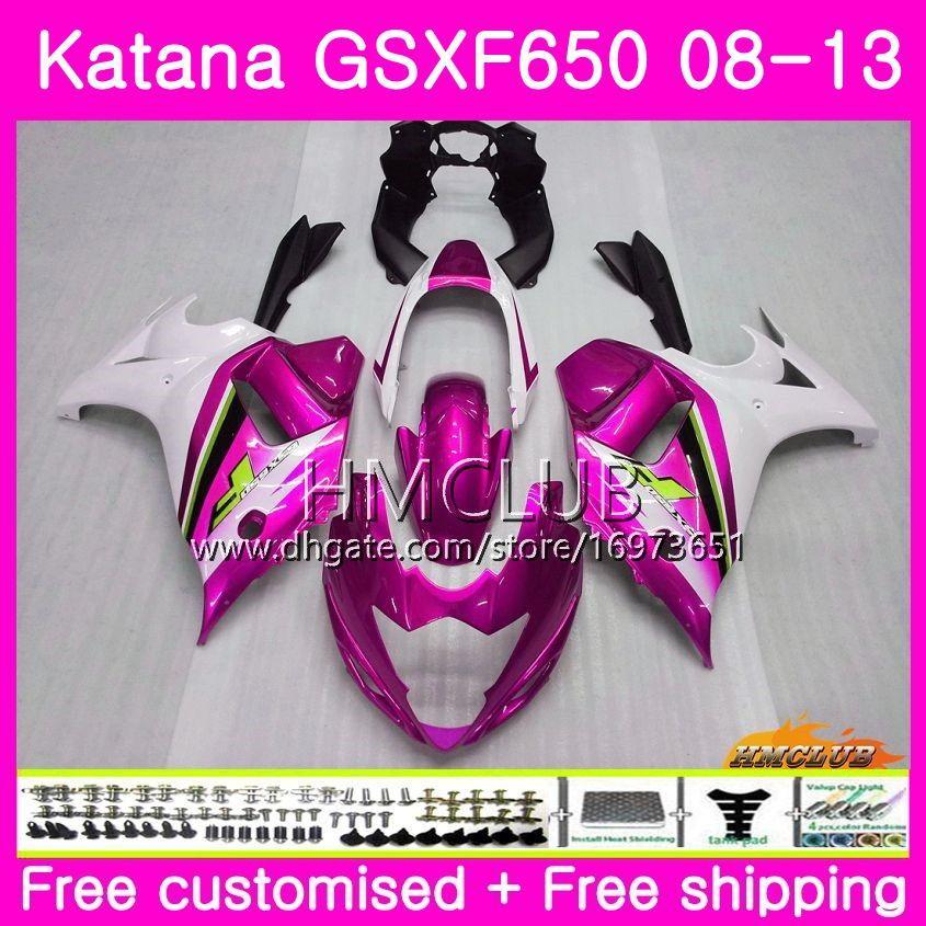 Kit For SUZUKI KATANA GSX650F GSXF 650 GSXF-650 08 09 10 11 12 13 14 14HM.98 GSXF650 2008 2009 2010 2011 2012 2013 2014 Pearl Rose Fairing