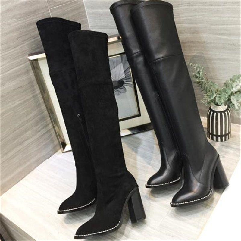 2019 nouvelle Luxe Femmes Chaussures Mode Chaussures de luxe de femmes Superstars Marque Bottes Femmes Bottes stretch femmes Souliers formels