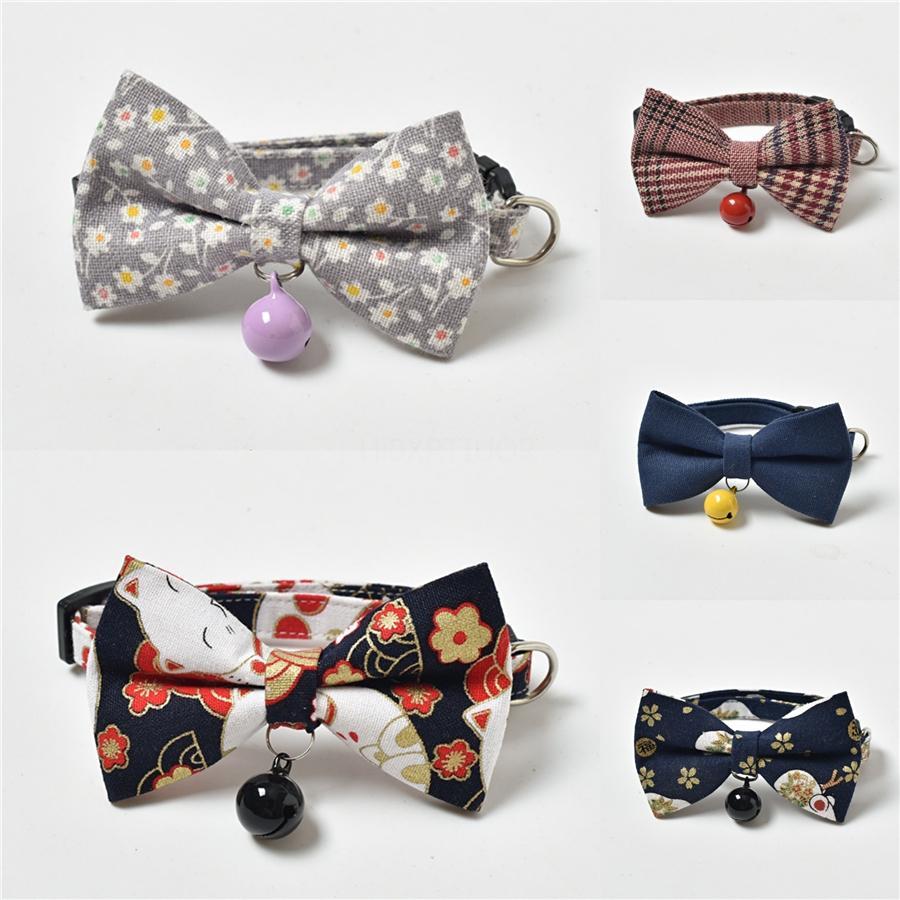 Haustier Bowknot Kragen Reflektierende Haustier Hund-Katze-Welpen Glocke Bowknot Kragen Verstellbare Größe Geeignet für Katzen und kleine Hunde Pet Supplies Accesso 59 #