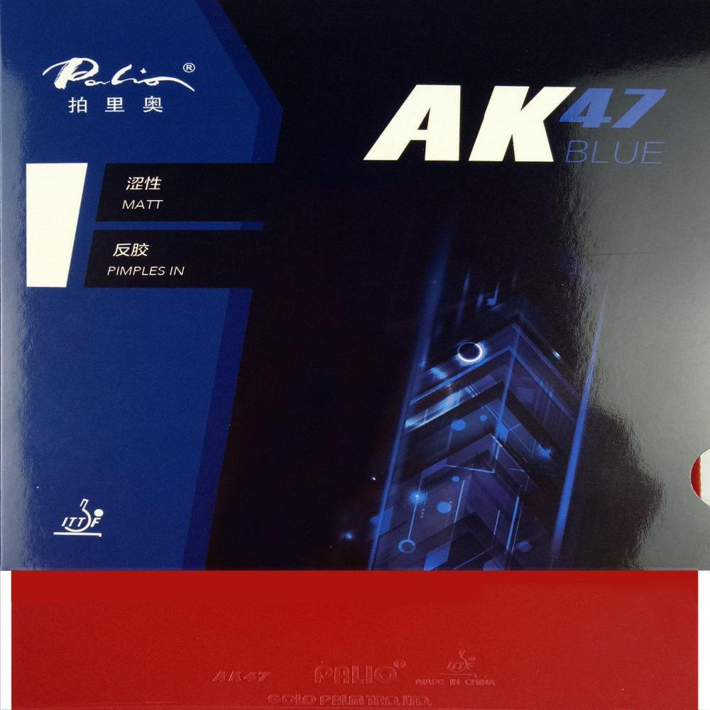 Palio AK 47 AK47 AK-47 BLUE Matt Pips in Rubber With Sponge PingPong Rubber for Table Tennis Racket 2.2mm H38-40 T200410