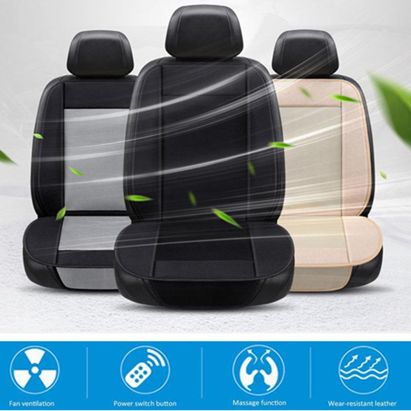 Car Seat Covers Summer Universal Luxury Breathable Wear-resistant Ice Silk Car Air Conditioning Refrigeration 12v 24v Seat Cushion