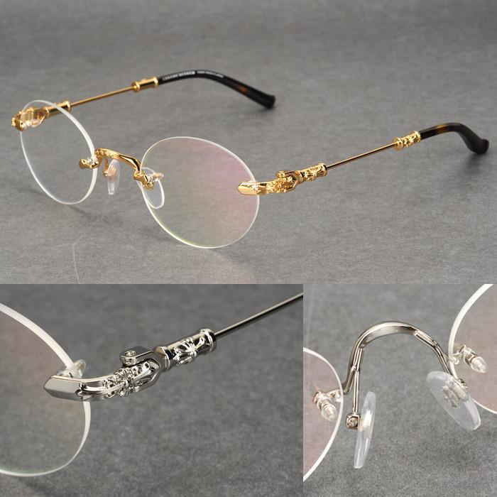 bijoux en argent de type rond marque sans lunettes de myope cadre hommes et femmes lunettes communes cadres pour les femmes