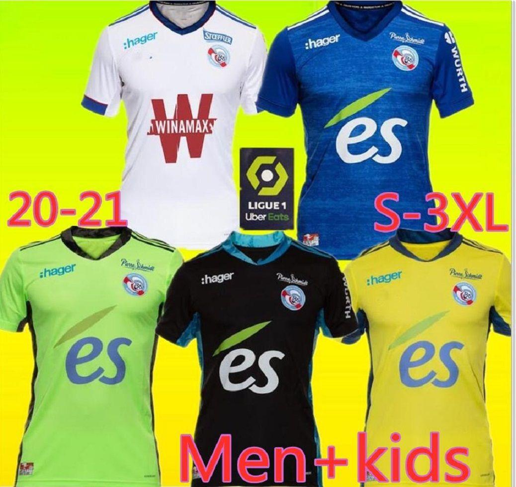 Adults and kids 20 21 Maillot RC STRASBOURG ALSACE Soccer Jersey 2020 2020 football shirts DJIKU THOMASSON LALA MOTHIBA SISSOKO football jer