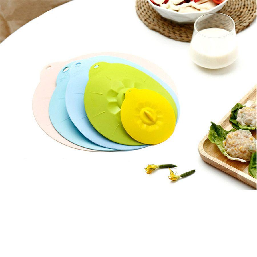Coperture del silicone ciotola resistente al calore coperchi Keeping Microonde copertura fresca Seal aspirazione per bocce Vasi Coppe JK2003