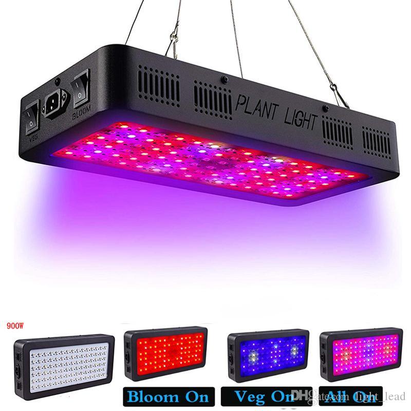 كامل الطيف LED النمو ضوء تبديل مزدوج 600W 900W تنمو ضوء مع وسائل الخضار بلوم للداخلية خيمة الاحتباس الحراري تنمو أدى 85-265V ضوء